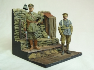 Captain & Sergent, 2nd Bn Royal Welsh Fusiliers, Ploegsteert Wood 1915