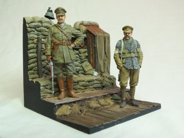 Captain & Sergent, 2nd Bn Royal Welsh Fusiliers, Ploegsteert Wood 1915